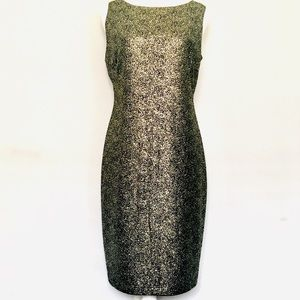 Onyx Nite vintage metallic evening dress